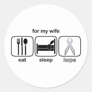 La esposa come la esperanza del sueño - cáncer de pegatinas