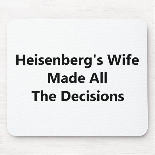 La esposa de Heisenberg tomó todas las decisiones Tapete De Ratones