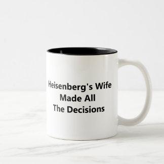 La esposa de Heisenberg tomó todas las decisiones Taza De Dos Tonos
