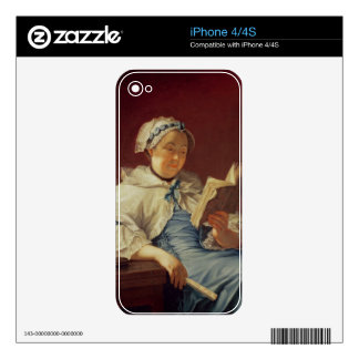 La esposa del artista, 1758 (aceite en lona) calcomanía para iPhone 4