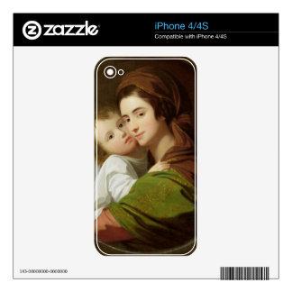 La esposa del artista, Elizabeth, y su hijo Raphae Skin Para El iPhone 4