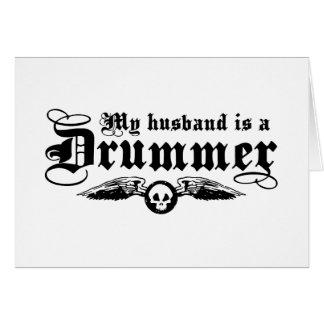 La esposa del batería tarjeta de felicitación