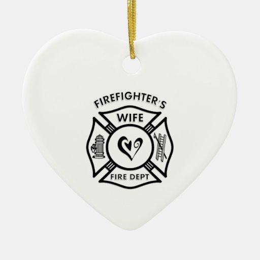 La esposa del bombero adorno