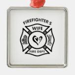 La esposa del bombero ornamento para arbol de navidad