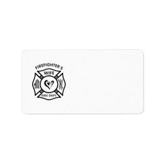 La esposa del bombero etiquetas de dirección