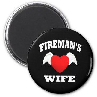 La esposa del bombero imán redondo 5 cm