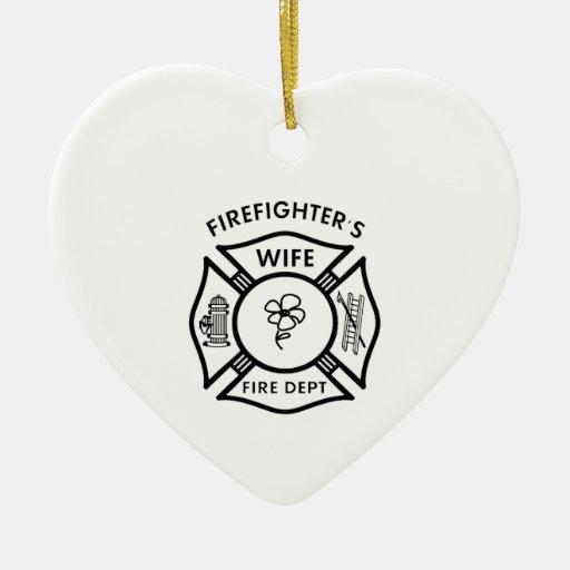 La esposa del bombero ornamentos para reyes magos