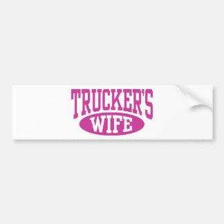 La esposa del camionero pegatina para auto