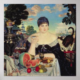 La esposa del comerciante en Tea, 1918 Poster