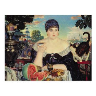 La esposa del comerciante en Tea, 1918 Postal