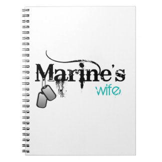 La esposa del infante de marina spiral notebooks