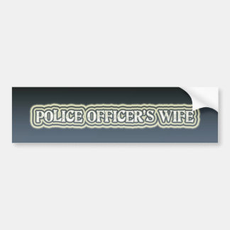 La esposa del oficial de policía pegatina de parachoque