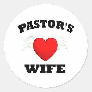 La esposa del pastor pegatina