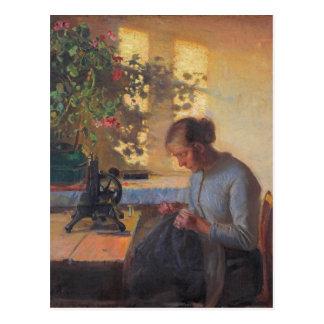 La esposa del pescador de costura de Ana Ancher Postal