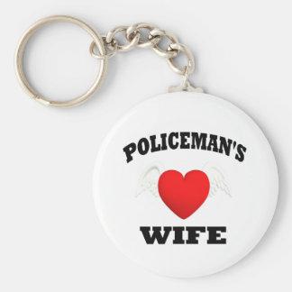 La esposa del policía llavero redondo tipo pin