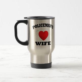 La esposa del policía taza de viaje de acero inoxidable