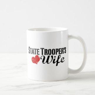 La esposa del soldado de caballería estatal taza de café