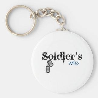 La esposa del soldado llavero redondo tipo pin