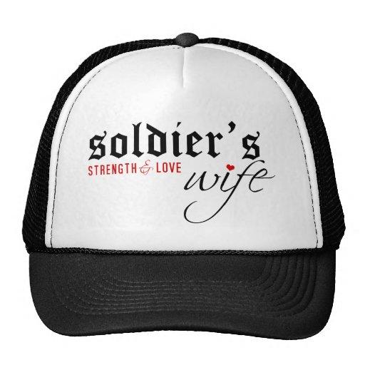 La esposa del soldado: Stength y amor Gorra