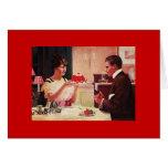 La esposa del vintage tiene postre para el marido felicitacion