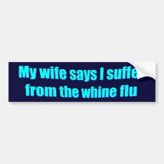 La esposa dice a la pegatina para el parachoques d pegatina para auto