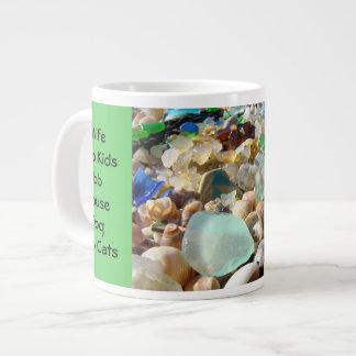 La esposa grande de la taza de Coffe del papá embr Tazas Extra Grande