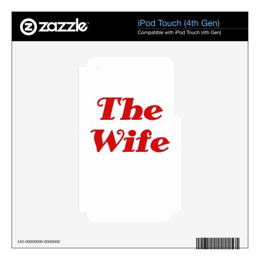 La esposa iPod touch 4G skins