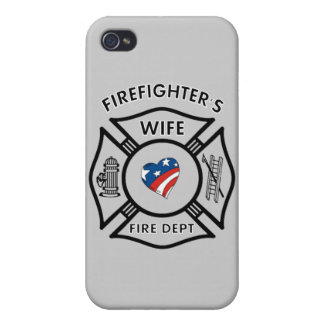 La esposa los E.E.U.U. del bombero iPhone 4/4S Carcasa