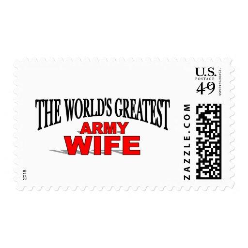 La esposa más grande del ejército del mundo sellos