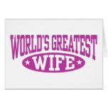 La esposa más grande del mundo felicitacion