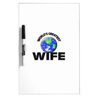 La esposa más grande del mundo pizarras blancas de calidad