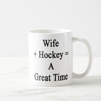 La esposa más hockey iguala un gran rato taza clásica