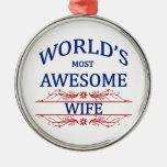 La esposa más impresionante del mundo ornamentos de reyes magos