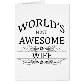La esposa más impresionante del mundo tarjeta de felicitación