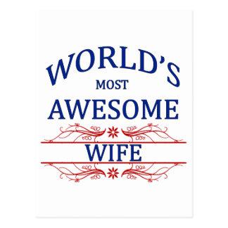 La esposa más impresionante del mundo tarjetas postales