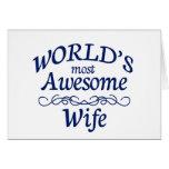La esposa más impresionante del mundo tarjetón