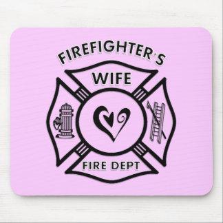 La esposa Mousepad del bombero Alfombrilla De Ratón