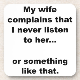 La esposa se queja posavaso