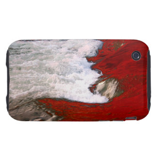 La espuma blanca detiene al río de lava roja iPhone 3 tough protectores