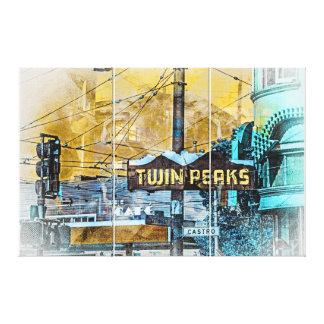 La esquina de TwinPeakers del Castro San Francisco Lienzo Envuelto Para Galerias