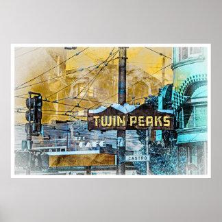 La esquina de TwinPeakers del Castro San Francisco Poster