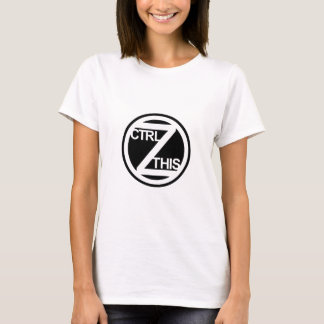 La ESTA camiseta de las mujeres del Ctrl Z