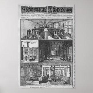 La estación de Edison el Co Illuminating eléctrico Póster