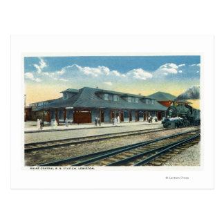 La estación de ferrocarril central de Maine Tarjetas Postales