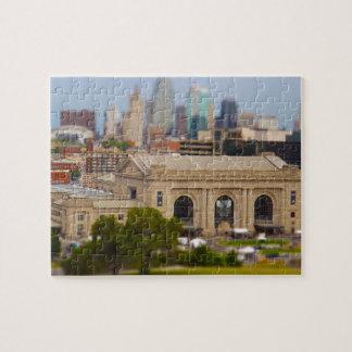 La estación de la unión, centro de Kauffman, cielo Puzzle Con Fotos