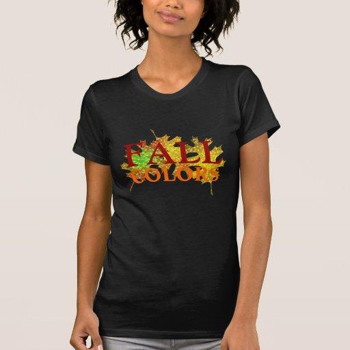 La estación del otoño de la caída deja diseño del camiseta
