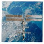 La estación espacial azulejo ceramica