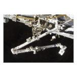 La estación espacial Canadiense-construida Fotografias