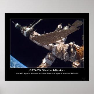La estación espacial del MIR Póster