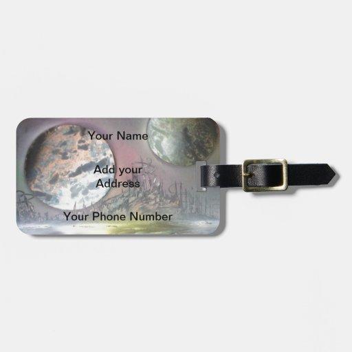 La estación espacial etiquetas de equipaje
